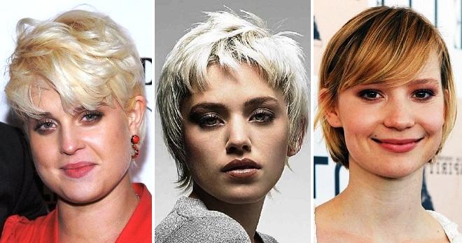 Potongan Rambut Pendek Yang Bergaya Untuk Wanita Gemuk Pixie Quads Kacang Kasino Pendek Asimetri Potongan Rambut Kreatif Untuk Wajah Penuh